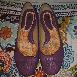 Born Purple Leather Ballet flats sz 7.5 / 38.5